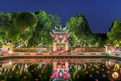 500 star lights lighted up Thu Vong Nguyet at Temple of Literature